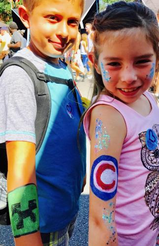 Creeper & Chiago Cubs Arm Painting