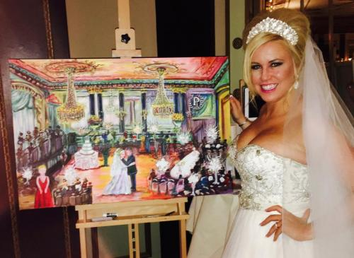 Live Event Painting for a wedding at The Pennisula Hotel