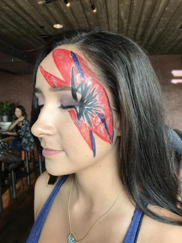 Face Painting Lady Gaga concert David Bowie at the Brickhouse Chciago