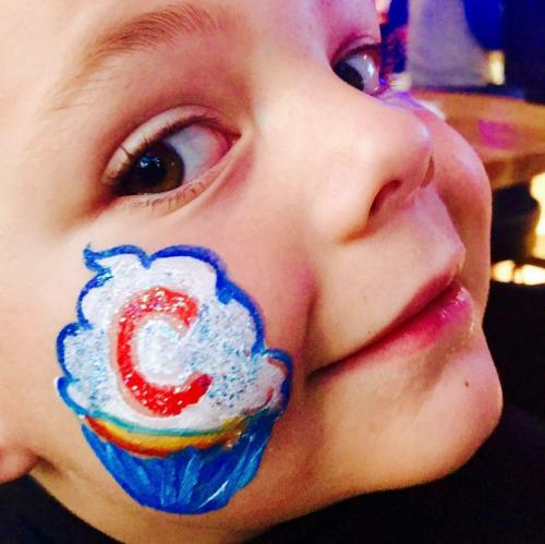 Cubby Cupcake face paint