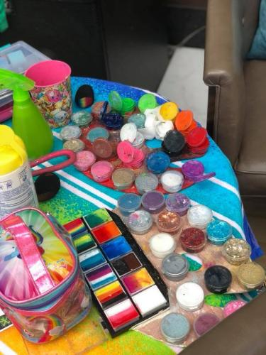 Face Painting palettes and supplies