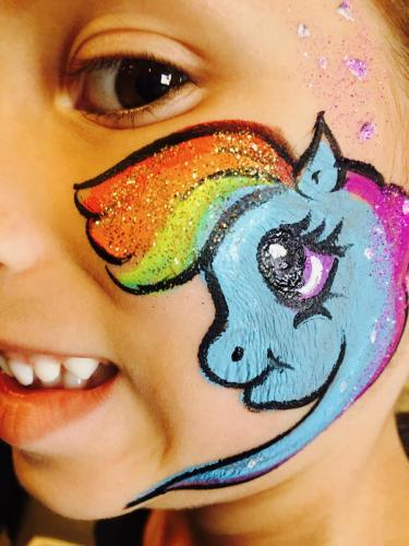 Rainbow Dash Face Painting