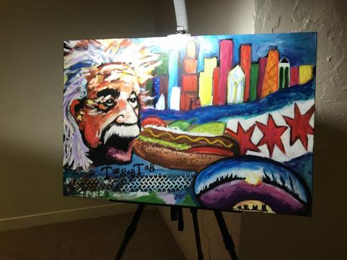 Live event painting. Turtoring Chicago