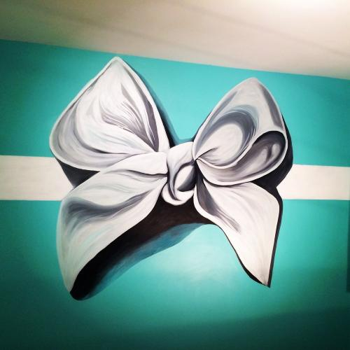 Baby bow nursery wall mural. Chicago
