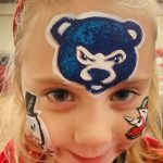 Christmas party Oak Brook face painting with glitter