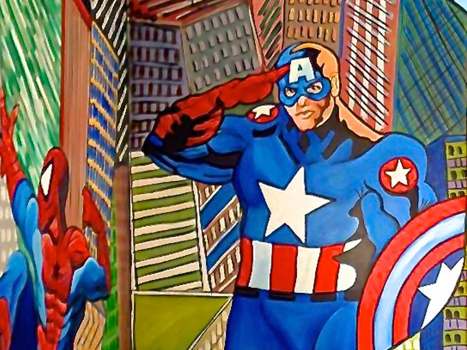 Superhero Murals
