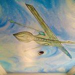Superhero mural