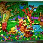 health club murals