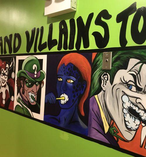 Superhero's need to brush their teeth and Villains too!