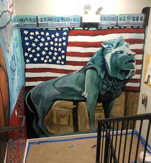 Art Institute Lion Mural