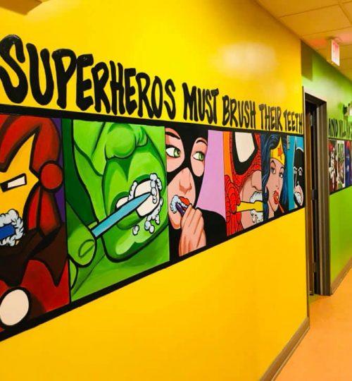 Even Superhero's need to brush their teeth