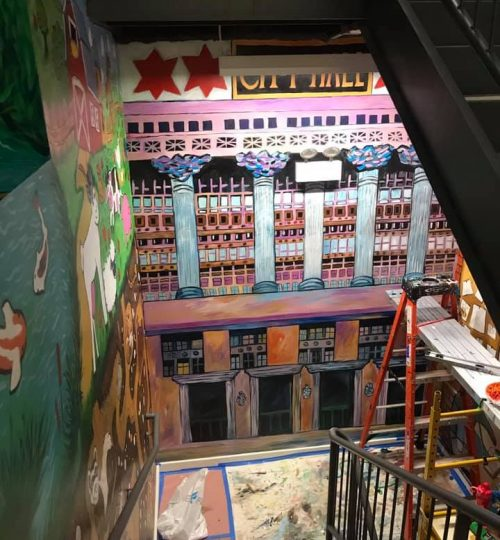 large scale murals