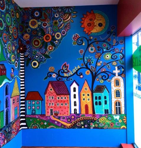 Trish Page Mural Pediatric Dental Office