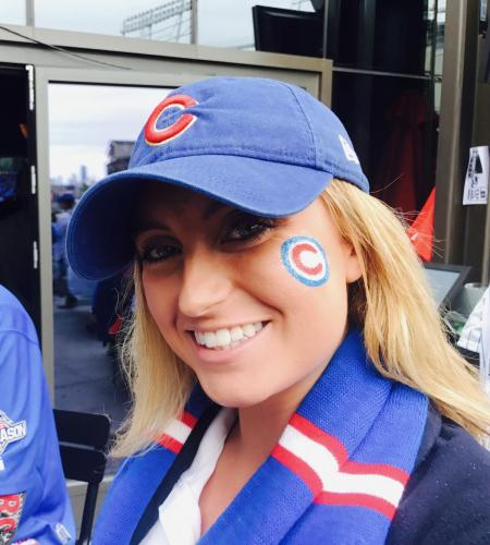 Cubs Fan Face Painting
