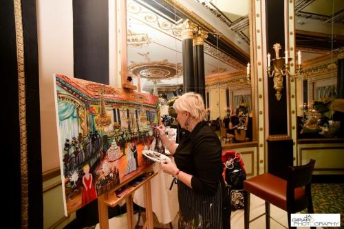 Chicago Live Event Painting at The Penninsula Hotel