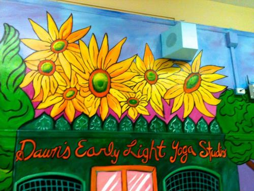 Elementary school flower wall mural