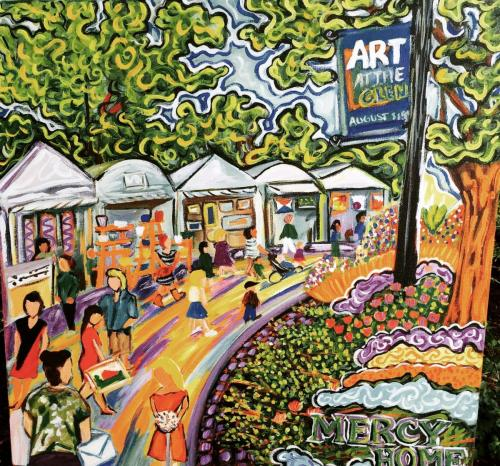 Live Event Painting the Glenview art fair