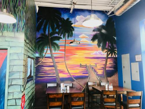 Bia' Cafe wall mural in Chicago