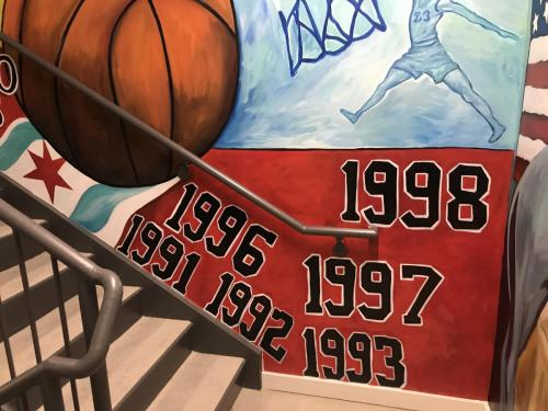 Urban Child Academy, Chicago Bulls Basketball Mural