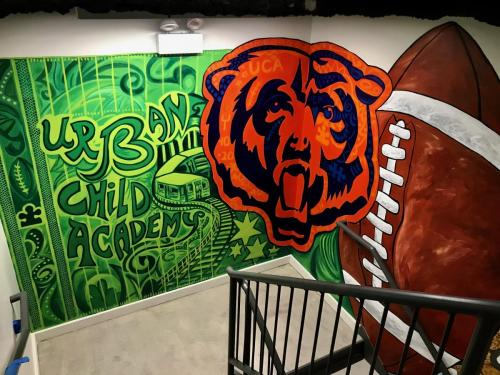 Urban Child Academy, Chicago Bears wall mural