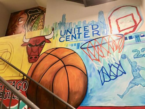 Urban Child Academy, Bulls Basketball wall mural