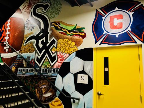 Urban Child Academy Fire Soccer wall mural