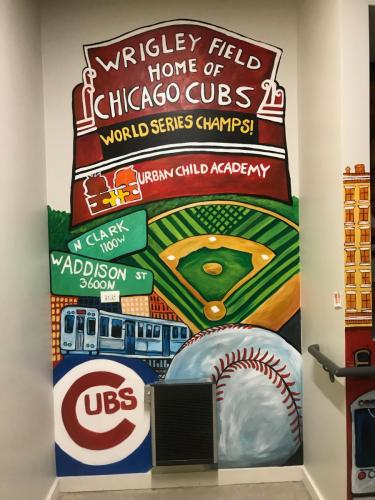 Urban Child Academy, Wrigley wall mural