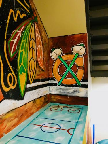 Urban Child Academy, Chicago Blackhawks hockey wall mural