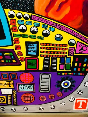 Forest Park IL Spaceship gears X-room wall mural