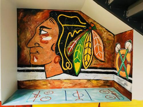 Urban Child Academy, Chicago Blackhawks wall mural