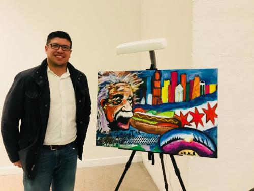 Live event painting  Chicago fundraiser