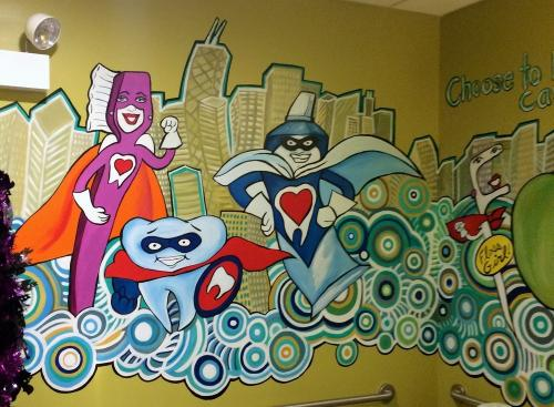 Bathroom wall mural Little Teeth, big smiles Forest Park IL