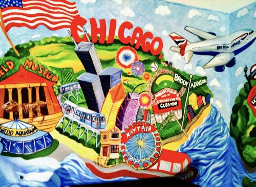 Chicago wall mural nursery